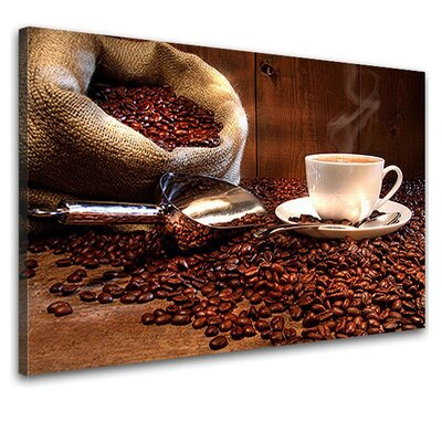 LanaKK Coffee Beans Photographic Print on Canvas