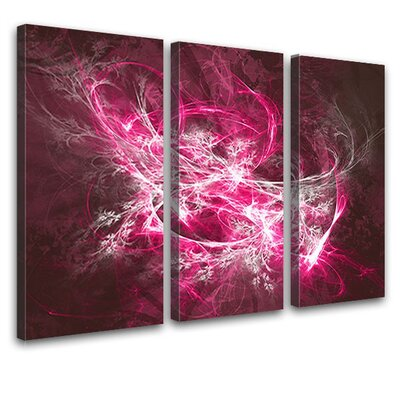 LanaKK Tension 3 Piece Graphic Art on Canvas Set