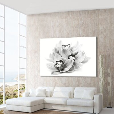LanaKK Orchid Blossom Photographic Print on Canvas