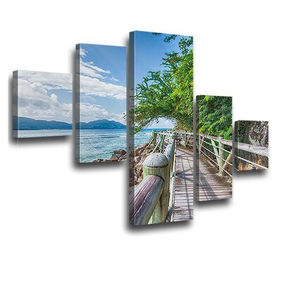 LanaKK Bond Bridge 5 Piece Photographic Print on Canvas Set