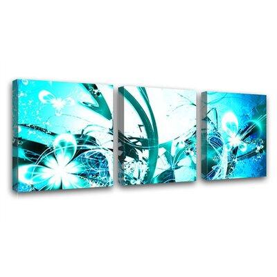 LanaKK Blossom Graph 3 Piece Graphic Art on Canvas Set