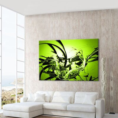 LanaKK Graph Apple Graphic Art on Canvas