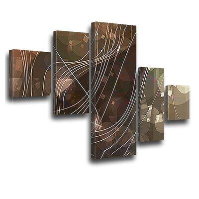 LanaKK Connect Used 5 Piece Graphic Art on Canvas Set