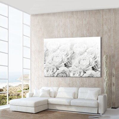 LanaKK Bed of Roses Photographic Print on Canvas