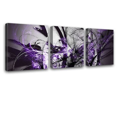 LanaKK Grow 3 Piece Graphic Art on Canvas Set