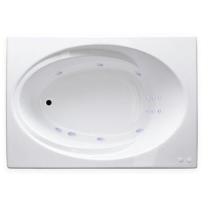 "Hygienic Aqua Massage 60"" x 42"" Whirlpool Bathtub Drain Location: Right"