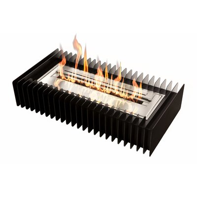 "Grate Kit Bio-Ethanol Fire Pit Table Insert Size: 6.3"" H x 29.7"" W x 15.7"" D"