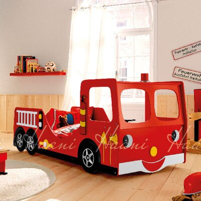 Haani Fire Engine Kids Single Car Bed