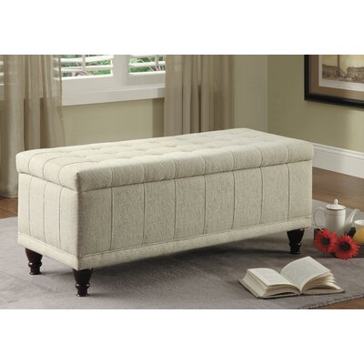 Attles Fabric Bedroom Storage Ottoman