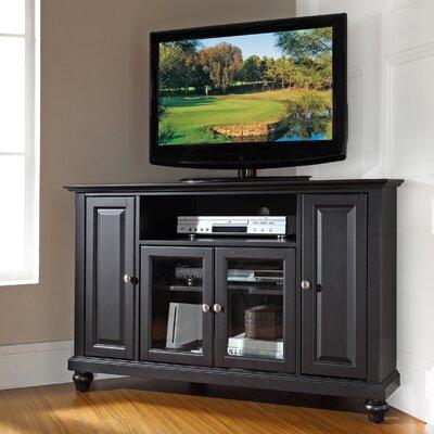 "Merilee 48"" Corner TV Stand Color: Black"