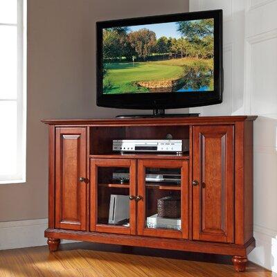 "Merilee 48"" Corner TV Stand Color: Classic Cherry"