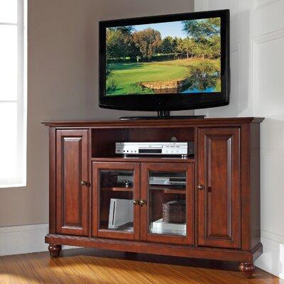 "Merilee 48"" Corner TV Stand Color: Vintage Mahogany"