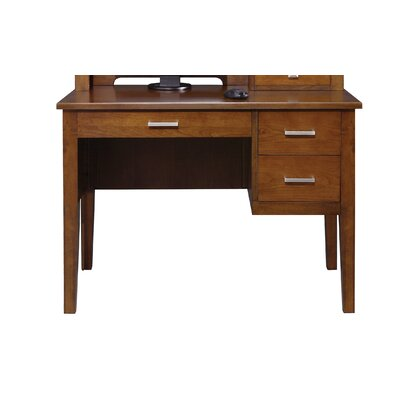 Eaton Computer Desk Color: Brown Cherry