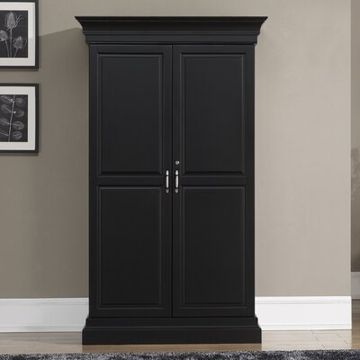 Raleigh Bar Cabinet with Wine Storage Color: Black
