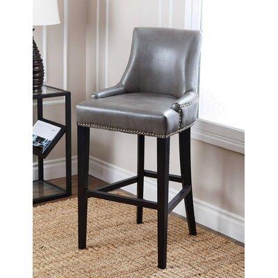 "Brogden 30"" Bar Stool Upholstery: Grey"