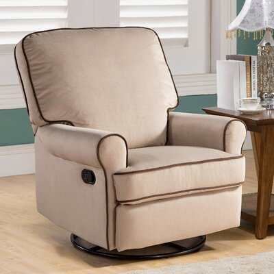 Roquemore Swivel Reclining Glider Upholstery: Sand