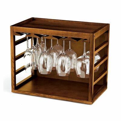 Kizer Tabletop Wine Glass Rack Finish: Walnut Stain