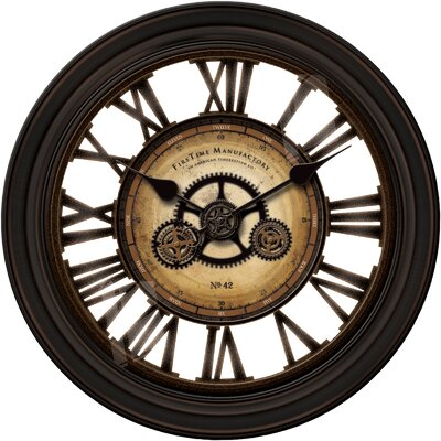 Darby Home Co Oversized 24 Quot Gear Works Wall Clock