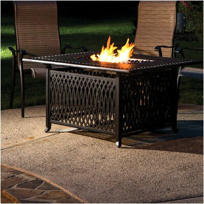Gibbons Aluminum Gas Fire Pit Table