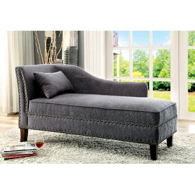 Segars Chaise Lounge Upholstery: Grey
