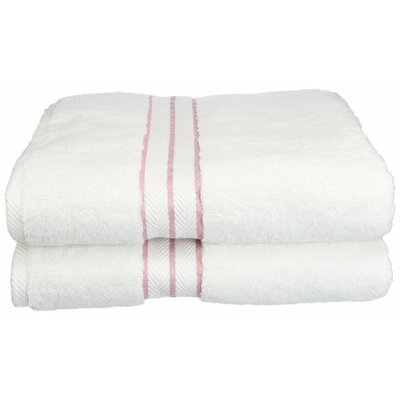 Hotel 100% Cotton Bath Towel Color: Tea Rose
