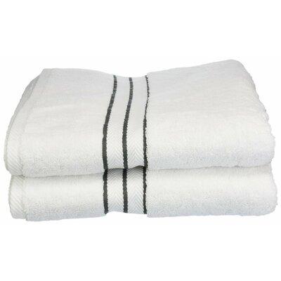 Hotel 100% Cotton Bath Towel Color: Charcoal