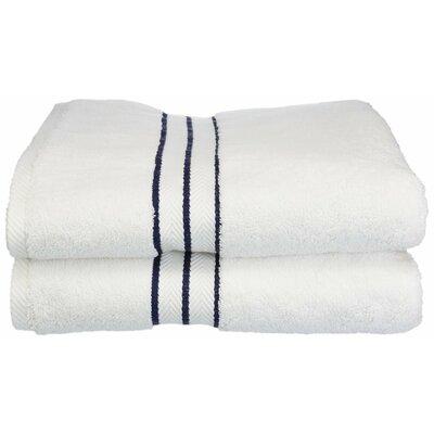 Hotel 100% Cotton Bath Towel Color: Navy Blue