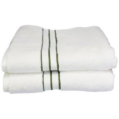 Hotel 100% Cotton Bath Towel Color: Forest Green