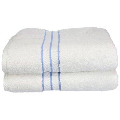 Hotel 100% Cotton Bath Towel Color: Light Blue
