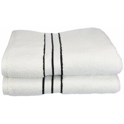 Hotel 100% Cotton Bath Towel Color: Black