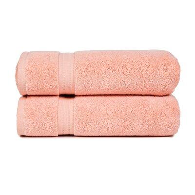 Morton 100% Cotton Hand Towel Color: Rose