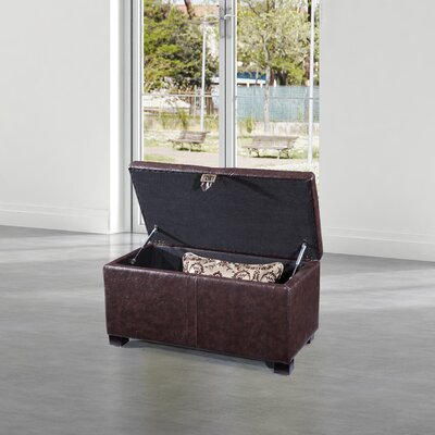 Dail Storage Bench Color: Dark Brown