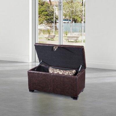 Dail Storage Bench Color: Dark Brown