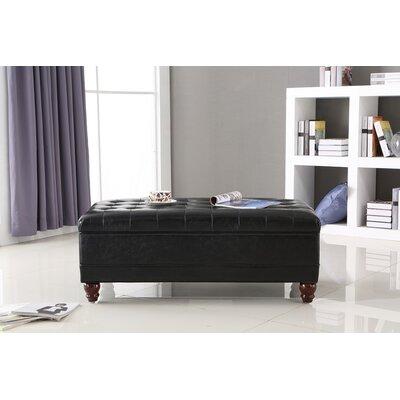 Dail Storage Bench Color: Black