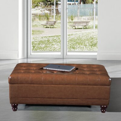 Dail Storage Bench Color: Saddle Brown