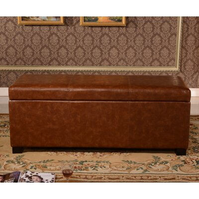 Dail Storage Bench Color: Brown