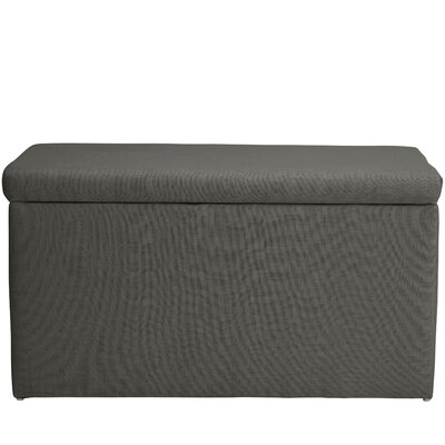 Abbot Linen Polyester Upholstered Storage Bench Color: Cindersmoke