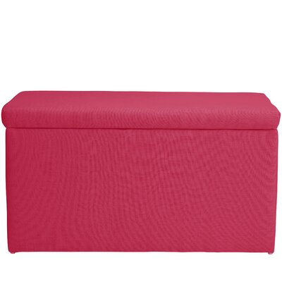 Abbot Linen Polyester Upholstered Storage Bench Color: Fuschia