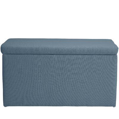 Abbot Linen Polyester Upholstered Storage Bench Color: Denim
