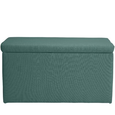 Abbot Linen Polyester Upholstered Storage Bench Color: Laguna