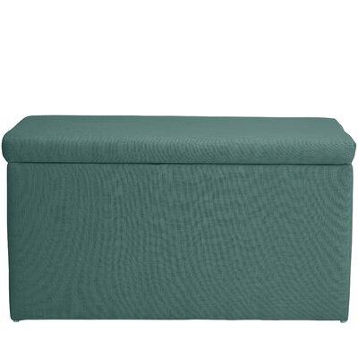 Abbot Linen Polyester Upholstered Storage Bench Color: Laguna