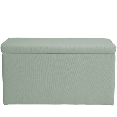 Abbot Linen Polyester Upholstered Storage Bench Color: Swedish Blue