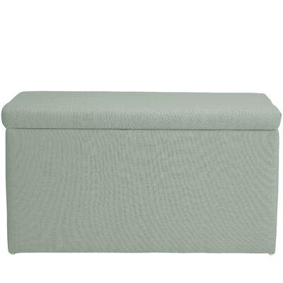 Abbot Linen Polyester Upholstered Storage Bench Color: Swedish Blue