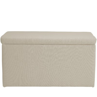 Abbot Linen Polyester Upholstered Storage Bench Color: Talc