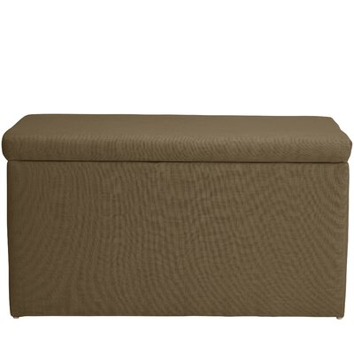 Abbot Linen Polyester Upholstered Storage Bench Color: Taupe