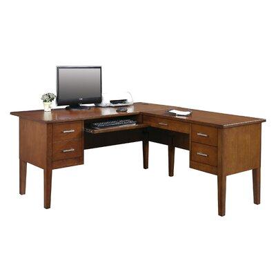 Eaton L-Shape Executive Desk Color: Brown Cherry