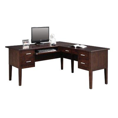 Eaton L-Shape Executive Desk Color: Chocolate