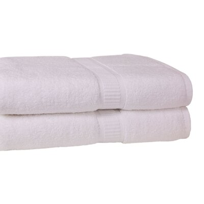 Bloomberg Terry Cloth Bath Towel Color: White