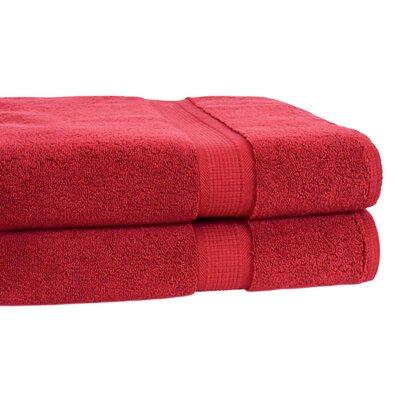 Bloomberg Terry Cloth Bath Towel Color: Cranberry