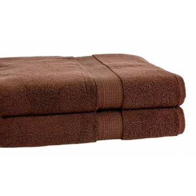 Bloomberg Terry Cloth Bath Towel Color: Espresso